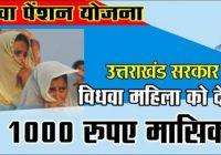 Uttarakhand Vidhwa Pension Yojana