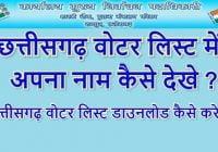 Chhattisgarh Voter List