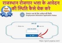 How to check Berojgari Bhatta Application Status
