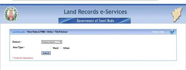 Tamil Nadu Land Record