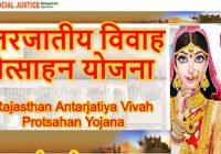 Rajasthan Antarjatiya Vivah Protsahan Yojana