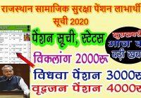 Rajasthan Pension Yojana Labharthi Suchi